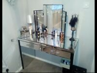 Dressing table and mirror bargain.