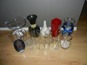 Beautiful Glass Vases - various styles, shapes & sizes...nice