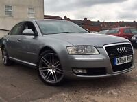 Audi A8 3.0TDi Sport Quattro LWB 2009 + FULL SERVICE HISTORY AND 12 MONTHS MOT + 2 KEEPERS FROM NEW