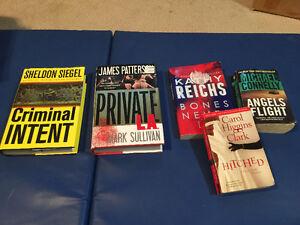 Five suspense books