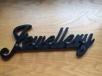 Black Wooden Jewellery Hooks