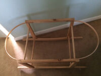 Wooden Moses basket rocking stand