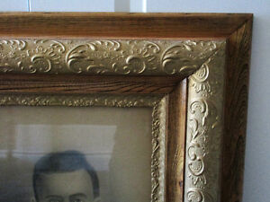 Large Size Victorian Ornate Wooden Frame with Charcoal Portrait Kitchener / Waterloo Kitchener Area image 2
