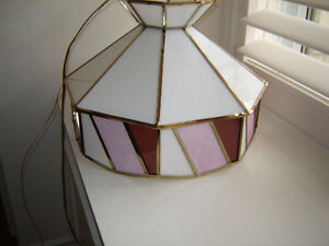 Pretty in Pink -  stained glass lighting fixture ** reduced London Ontario image 1