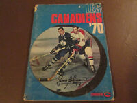 Les Canadiens '70 Yearbook with Beliveau Autograph