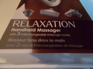 MASSAGER new in box relaxation interchangeable