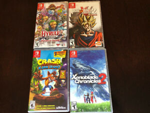 FOUR NINTENDO SWITCH GAMES INCL. HYRULE WARRIORS