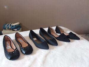 Selling a total of 19 pair of woman's size 11 heels and flats.