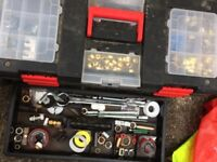 Two Plumbers Tool Boxes