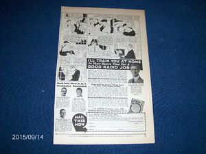 1934 NATIONAL RADIO INSTITUTE FULL PAGE ADVERTISEMENT-VINTAGE!