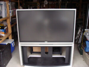 TOSHIBA  45 INCH TV  AND STAND AND REMOTE   50.00