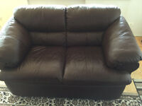 Leather Couch- Brown