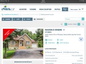 Maison à vendre à Saint -Adèle 2008 laurentide clée  en main