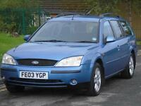 FORD MONDEO ESTATE 2.0TDCi 130 2003 GHIA,LONG MOT,GREAT ON FUEL,EXCELLENT DRIVE