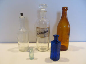 Antique Bottles - 5 different