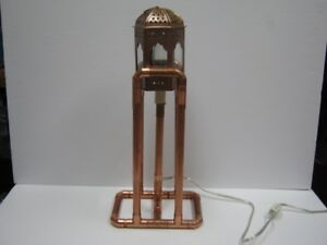 copper pipe light house theme  desk or table lamp.