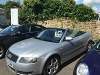 Audi A4 Cabriolet 2.4 AUTO 2004 Sport Convertible - INTERMITTENT GEARBOX ISSUE