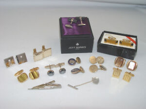 Vintage Cuff Links 13 pcs Lot New Jeff Banks and Hickok More