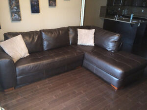 Faux Leather Sectional from Leons
