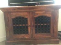 Solid Wood Corner TV Unit £80 ono
