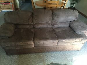 Microfibre couch, loveseat and chair