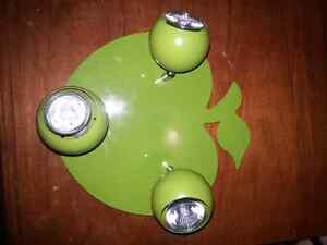 3 Light Apple Shaped Ceiling Fixture