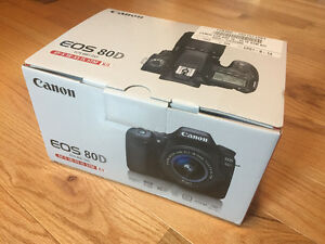 CANON 80D w/ 18-55mm IS STM LENS KIT - BRAND NEW IN BOX!