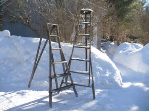 Antique 3 Legged Fruit Orchard Ladder