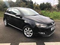 2014 14 VOLKSWAGEN POLO 1.2 MATCH EDITION 3DR BLACK METALLIC, ONLY 12K MILES