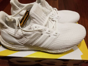 Brand New Adidas Triple White Ultraboost 4.0 Size 10.5