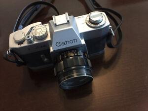 Canon EX EE 35mm Film SLR Camera c/w Canon EX 50/1.8 Lens