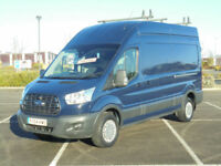 2014 64 FORD TRANSIT 2.2TDCi RWD 350 LWB HI ROOF PANEL VAN IN BLUE TREND SPEC