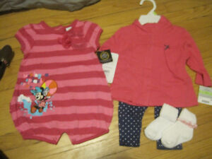 New with Tags Girl's outfits 3-6 months