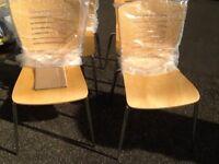 4 brand new pine chairs