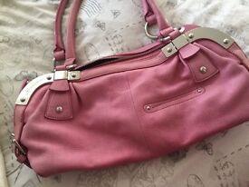 Pink Leather Handbag