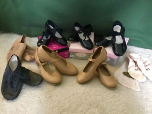 Girls Tap, Jazz, and Ballet Shoes