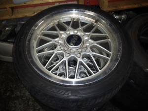 JDM BBS OEM Rims Wheels And Tires Staggered 18x8 18x9 5x114.3