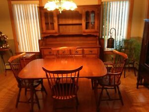 Table and 6 chairs,  buffet & hutch