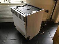 CDA FULL SIZE INTEGRATED DISHWASHER 600mm. Good condition. Fully working