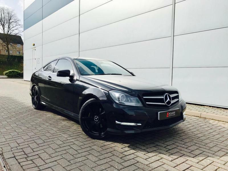 2011 61 reg mercedes benz c220 cdi amg sport coupe black black huge spec in watford - Mercedes c220 coupe amg sport ...