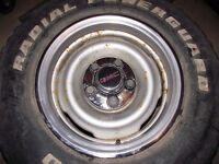 Pair of GM Rims, Center Caps and Nuts