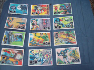 1-LOT DE 27 CARTES BATMAN,1966 ANTIQUE-DE COLLECTION.