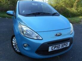 2010 10 FORD KA 1.2 ZETEC 3D 69 BHP ** ZETEC EDITION , WITH ONLY 44K **