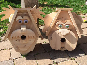 BIRDHOUSES. HILLBILLY/PUPPY STYLES. VERY DETAILED.