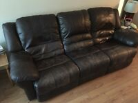 Leather couch and chair set for sale, 400$ OBO