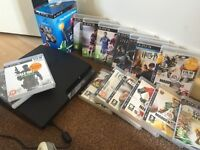 PS3 with move and 18 games