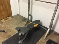 Bench press with Olympic bar