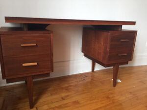 Bureau/desk mid century walnut