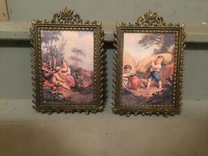 Vintage prints with frames