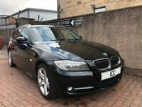 1161 BMW 318D EXCLUSIVE EDITION TOURING 5DR BLACK SATNAV LEATHER PRIVACY £30 TAX